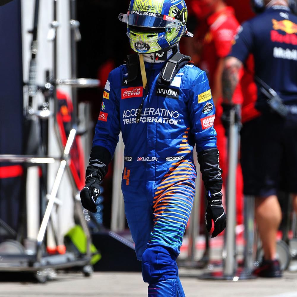 Lando Norris 2020 Framed Race-worn Race Suit - Austrian Grand Prix - McLaren