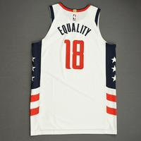 Anzejs Pasecniks - Washington Wizards - Game-Worn City Edition Jersey - Dressed, Did Not Play (DNP) - 2019-20 NBA Season Restart with Social Justice Message
