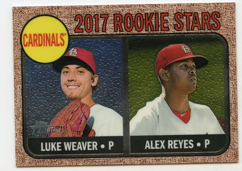 Photo of 2017 Topps Heritage Chrome #162 Luke Weaver/Alex Reyes