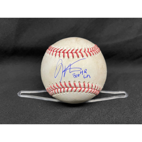 Joey Votto *Game-Used, Autographed & Inscribed* Baseball from 300th Career HR Game - Wade Miley to David Bote (Line Out); to Nico Hoerner (Ball in Dirt) -- 04/30/2021 - CHC vs. CIN - Top 2