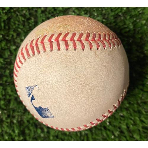 Photo of Joc Pederson Hit Single Baseball off Tony Gonsolin - 10/16/21 NLCS Game 1