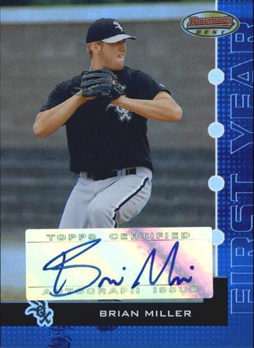 Photo of 2005 Bowman's Best Blue #110 Brian Miller FY AU