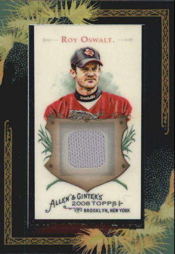 Photo of 2008 Topps Allen and Ginter Relics #RO Roy Oswalt Jsy C