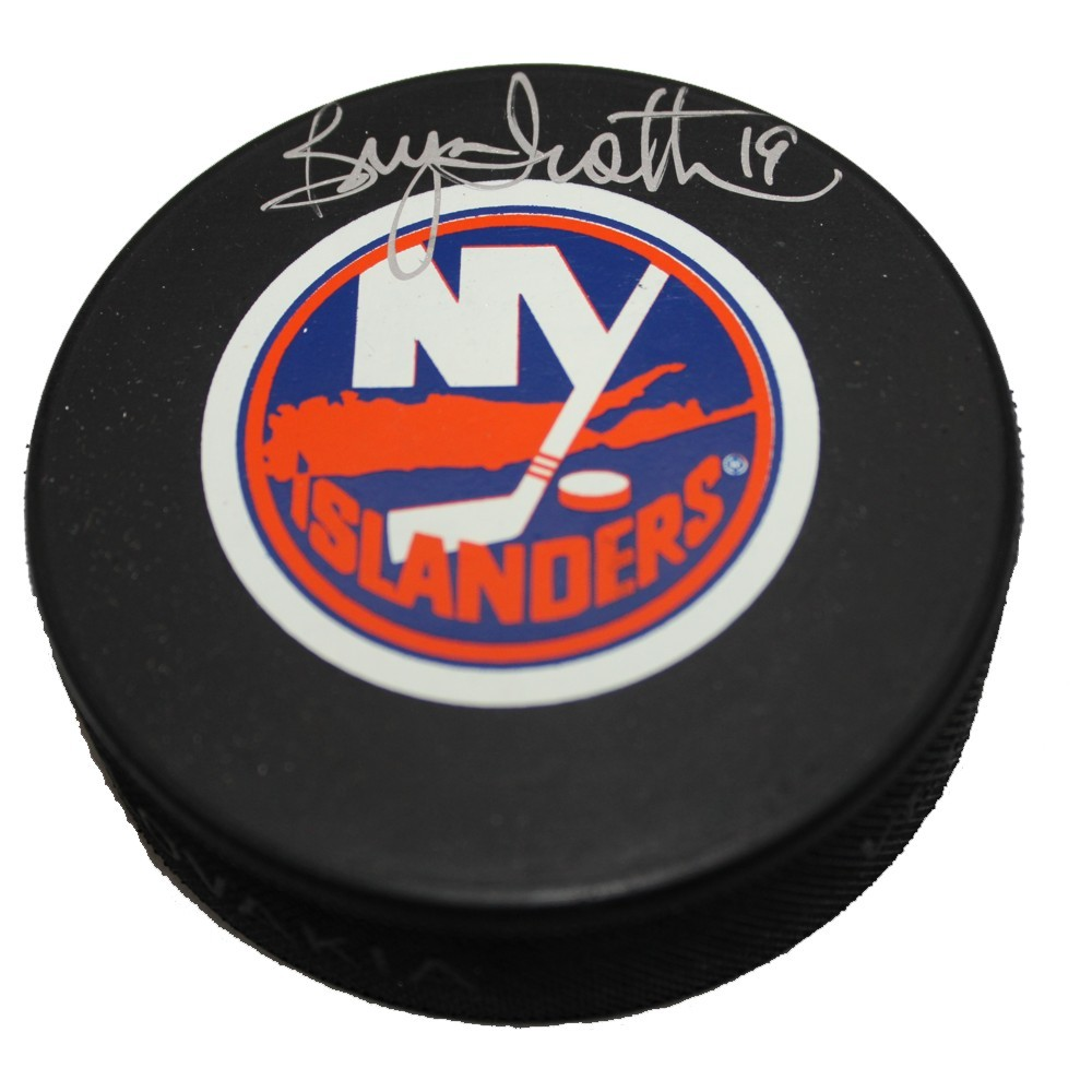 Bryan Trottier Autographed New York Islanders Puck