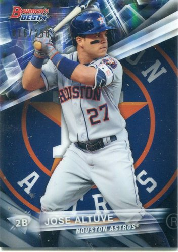 Photo of 2016 Bowman's Best Blue Refractors #10 Jose Altuve 16/250