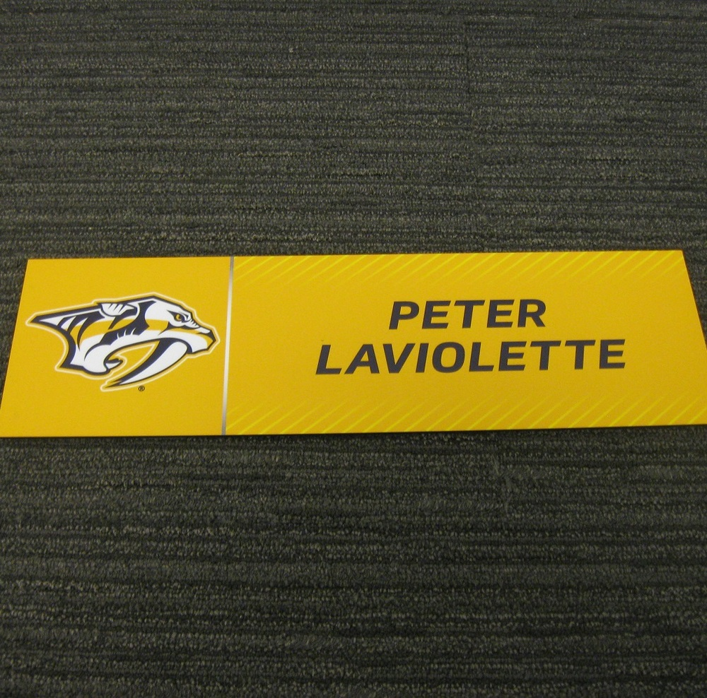 Peter Laviolette 2017 Stanley Cup Final Media Name Plate - Nashville Predators
