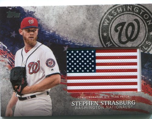 Photo of 2018 Topps Independence Day U.S. Flag Relics #IDMLSS Stephen Strasburg