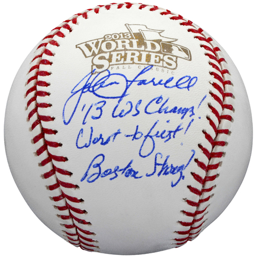 Photo of John Farrell Boston Red Sox Autographed 2013 World Series Baseball with Multiple Inscriptions - #6 In a L. E. of 6