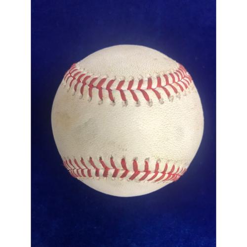 Photo of Game Used Baseball: Justin Upton RBI Triple September 12th 2018