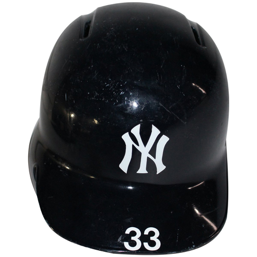 Photo of Greg Bird New York Yankees 2017 Game Used #33 Home Batting Helmet (10/1/2017, 10/3/2017, 10/8/2017, 10/17/2017)