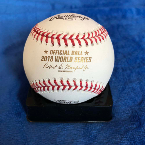 Photo of UMPS CARE AUCTION: 2018 World Series Commemorative Baseball Signed by Ted Barrett