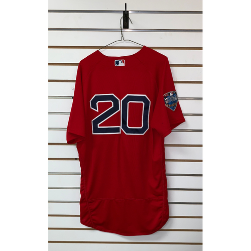 Photo of Alex Cora team issue 2018 World Series Home Alternate Jersey
