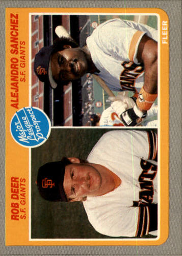 Photo of 1985 Fleer #648 Rob Deer RC/Alejandro Sanchez RC