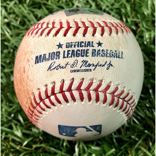 Photo of Game Used Baseball: Shohei Ohtani Cycle Game - Avisail Garcia single off Cam Bedrosian - June 13, 2019 v LAA