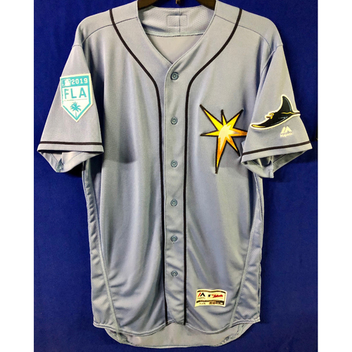 Photo of Rays Baseball Foundation: Team Issued 2019 Spring Training Blank Jersey - Choose Your Size!