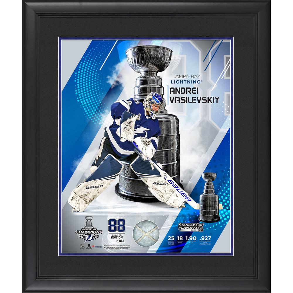Andrei Vasilevskiy Tampa Bay Lightning 2020 Stanley Cup Champions Framed 16