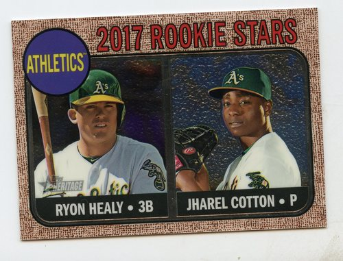Photo of 2017 Topps Heritage Chrome #199 Jharel Cotton/Ryon Healy