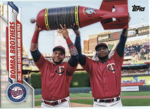 Photo of 2020 Topps #412 Bomba Brothers/Nelson Cruz/Miguel Sano