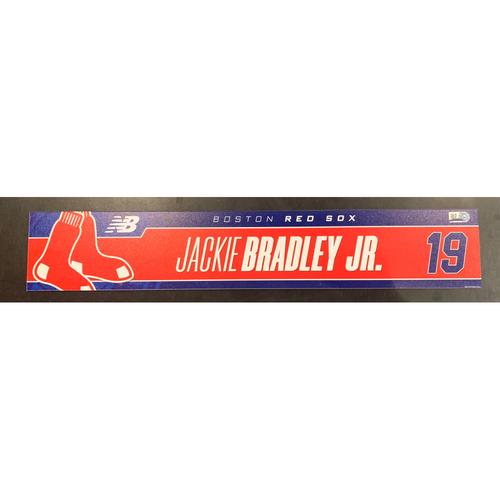 Photo of Jackie Bradley Jr Team Issued Locker Tag