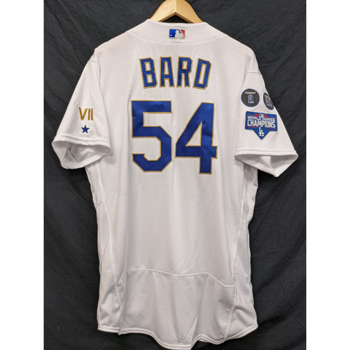 Photo of Josh Bard Team-Issued Gold Trim Re-Opening Day Jersey - 6/15/21