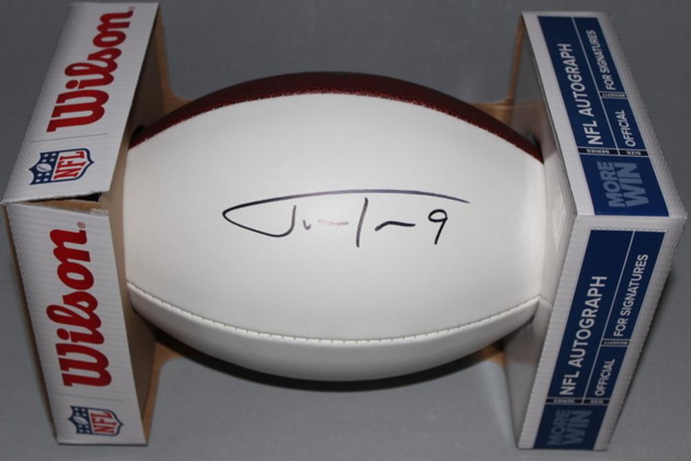 NFL - RAVENS JUSTIN TUCKER SIGNED PANEL BALL