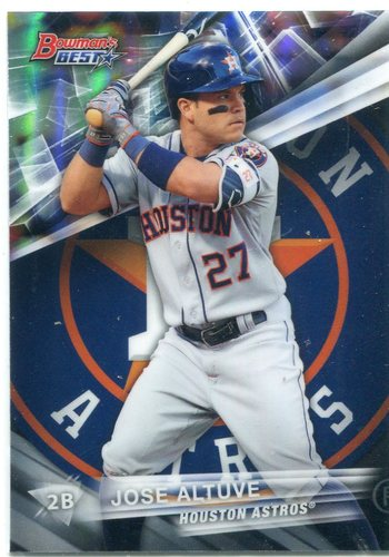 Photo of 2016 Bowman's Best Refractors #10 Jose Altuve  -- Astros post-season