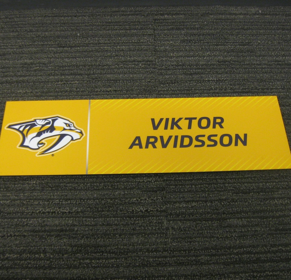 Viktor Arvidsson 2017 Stanley Cup Final Media Name Plate - Nashville Predators