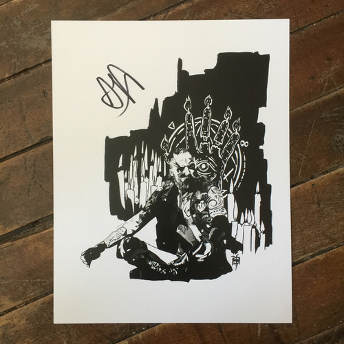 Photo of Aleister Black SIGNED 11 x 14 Rob Schamberger Print