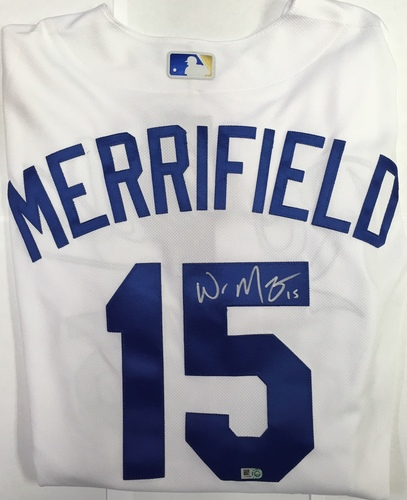 Photo of Whit Merrifield Autographed Authentic Royals Jersey