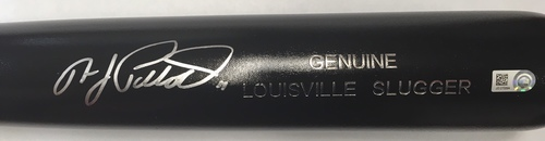 Photo of A.J. Pollock Autographed Black Louisville Slugger Bat