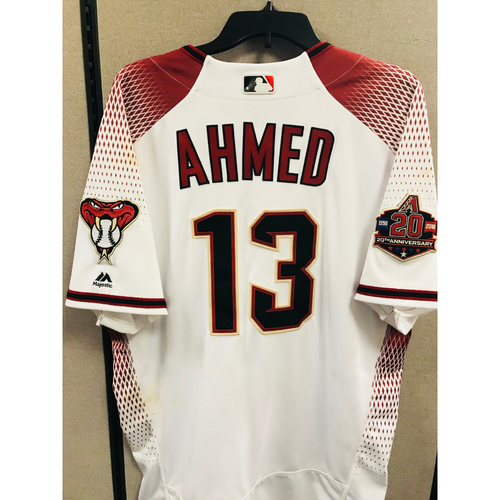Photo of Game-Used Nick Ahmed Jersey - April 30th vs. Los Angeles Dodgers