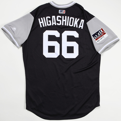 "Photo of Kyle ""Higashioka"" Higashioka New York Yankees Game-Used Jersey 2018 Players' Weekend Jersey"