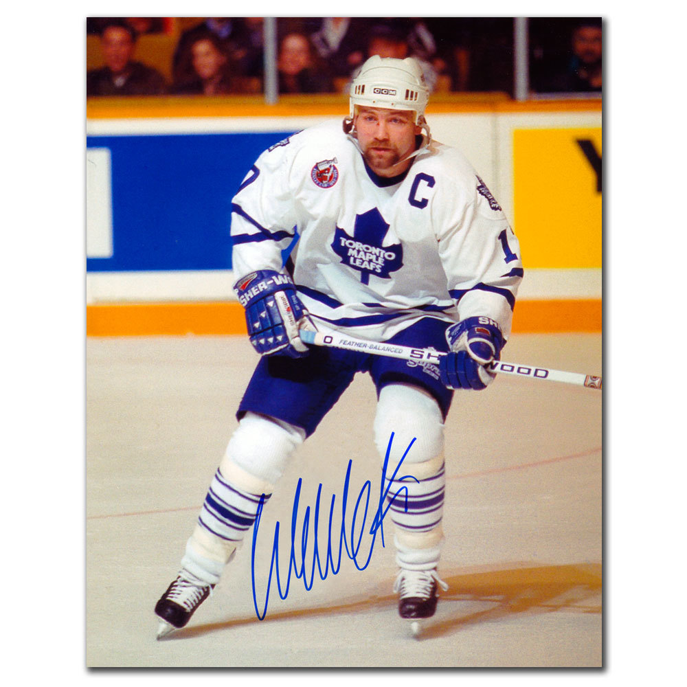 Wendel Clark Toronto Maple Leafs WHITE JERSEY Autographed 8x10