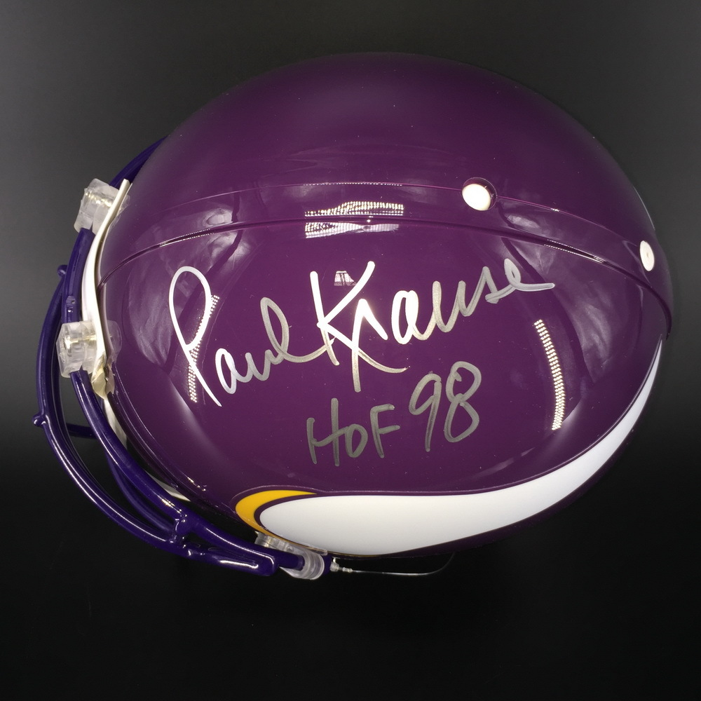 HOF - Vikings Paul Krause Signed Proline Helmet