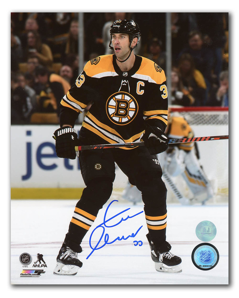 Zdeno Chara Boston Bruins Autographed Action 8x10 Photo