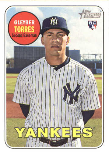 Photo of 2018 Topps Heritage #603 Gleyber Torres RC