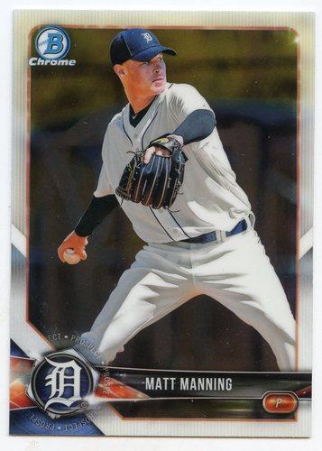 Photo of 2018 Bowman Chrome Draft #BDC145 Matt Manning