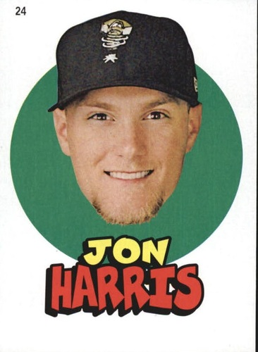 Photo of 2016 Topps Heritage Minors '67 Topps Stickers #24 Jon Harris