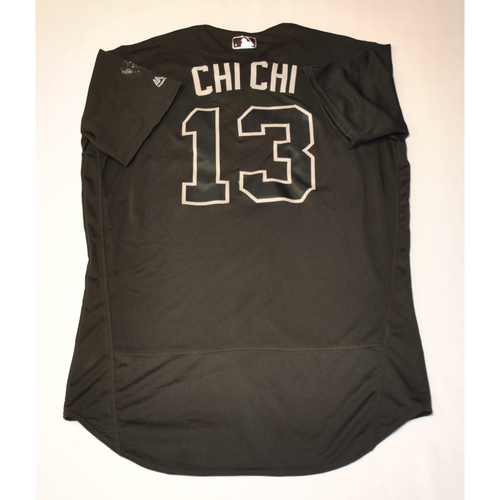 "Photo of Sean ""CHI CHI"" Rodriguez Philadelphia Phillies Game-Used 2019 Players' Weekend Jersey"