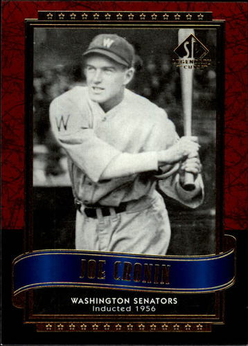Photo of 2003 SP Legendary Cuts #61 Joe Cronin