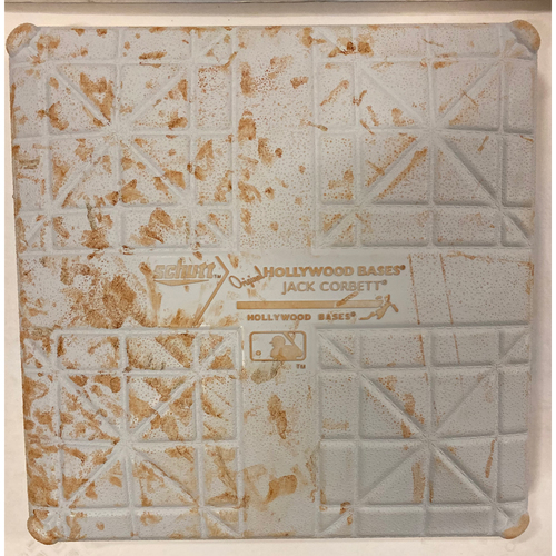 Photo of 2019 NLDS Game Used Base - First Base Used During 8th and 9th Inning - 10/9/19 - Cardinals Clinch