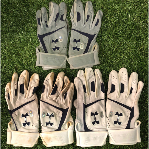 Photo of Team Issued Under Armour Batting Glove Set