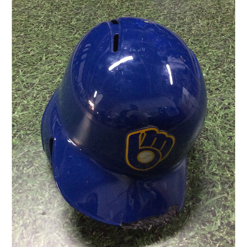 Photo of Travis Shaw 2018 Game-Used Retro Batting Helmet