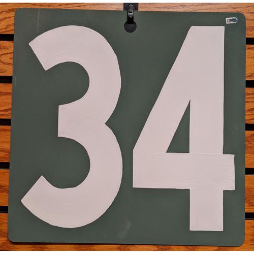 Photo of Fenway Park Green Monster Scoreboard #34