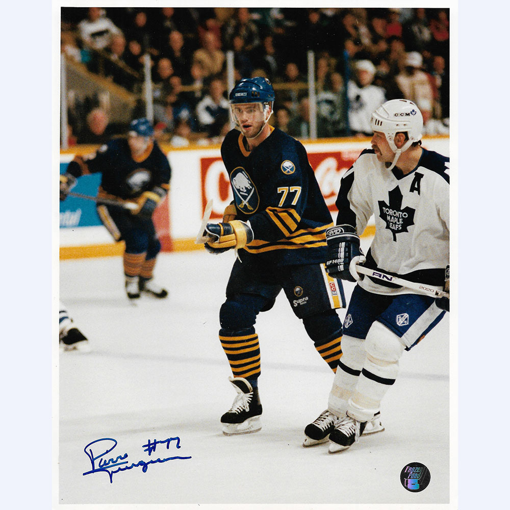 Pierre Turgeon Autographed Buffalo Sabres 8X10 Photo