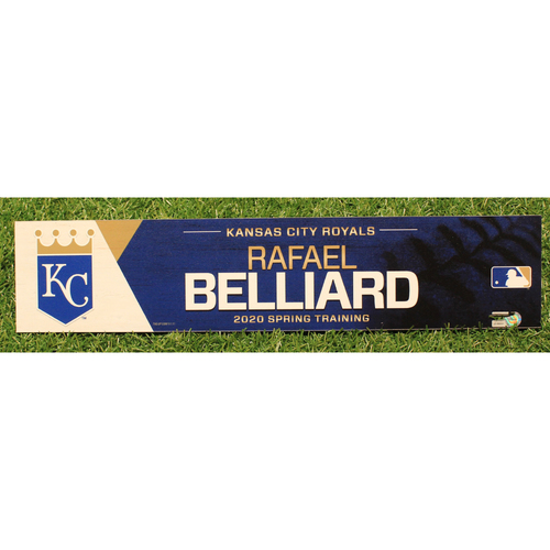 Photo of Team-Issued 2020 Spring Training Locker Tag: Rafael Belliard