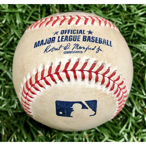 Photo of Rays Baseball Foundation: Game Used Home Run Baseball - Nate Lowe - September 15, 2020 v WSH