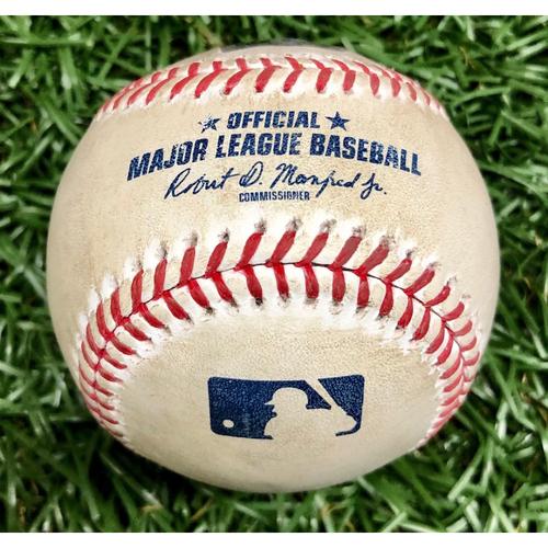 Photo of Rays Baseball Foundation: Game Used Home Run Baseball - Nate Lowe - September 15, 2020 v WSH