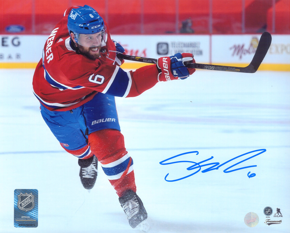 Shea Weber Signed 8x10 Unframed Canadiens Shooting