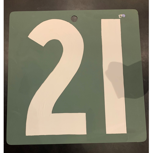 Photo of #21 Team Issued Fenway Park Green Monster Scoreboard Number